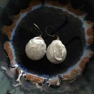 Real Baroque Pearl Earrings